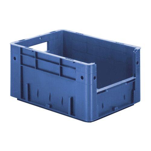 Zware transportkrat Euronorm plastic bak, krat VTK4 400x300x210 blauw
