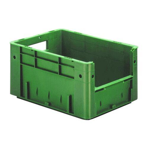 Zware transportkrat Euronorm plastic bak, krat VTK4 400x300x210 groen