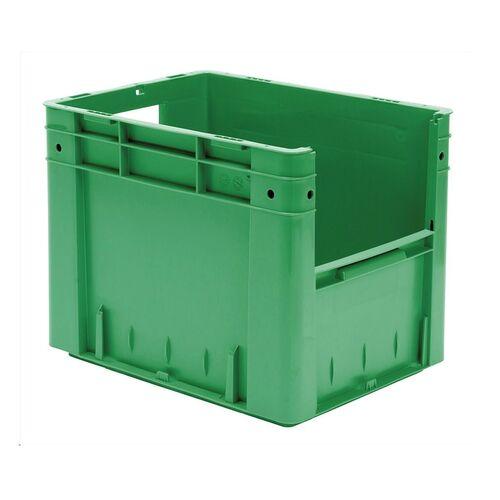 Zware transportkrat Euronorm plastic bak, krat VTK4 400x300x320 groen