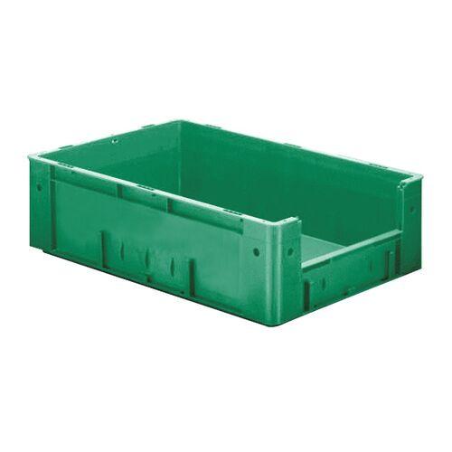Zware transportkrat Euronorm plastic bak, krat VTK4 600x400x175 groen