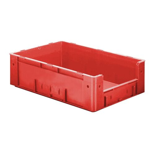 Zware transportkrat Euronorm plastic bak, krat VTK4 600x400x175 rood
