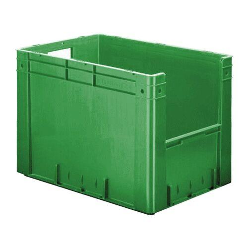 Zware transportkrat Euronorm plastic bak, krat VTK4 600x400x420 groen